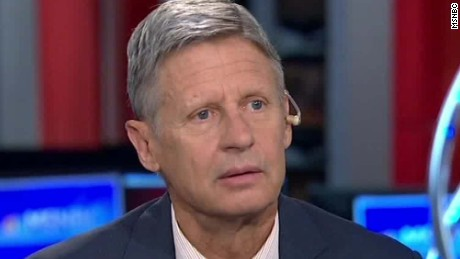 Gary Johnson: 'What is Aleppo?'