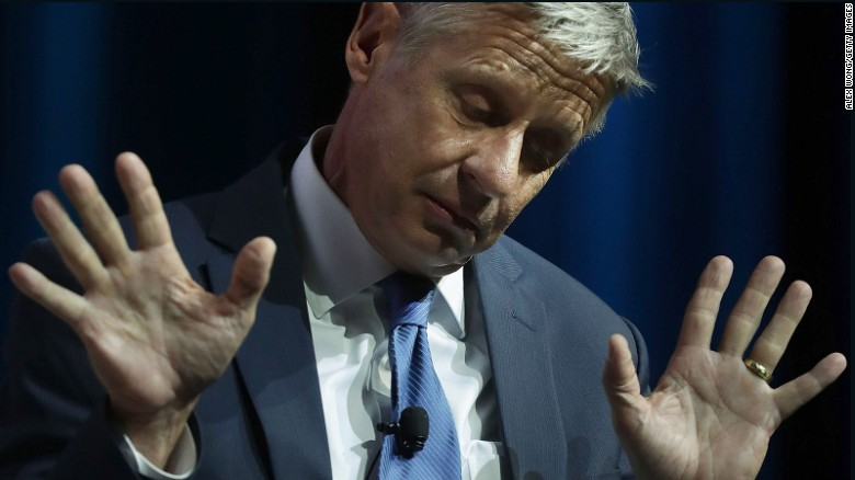 Gary Johnson unable to name world leader he admires