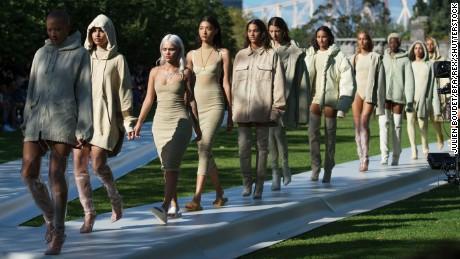 Mandatory Credit: Photo by Julien Boudet/BFA/REX/Shutterstock (5893824y) Models Yeezy: Season 4 show, Spring Summer 2017, New York Fashion Week, USA - 07 Sep 2016