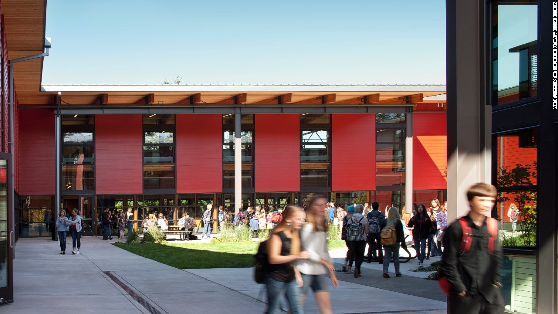 Located on a small island in Puget Sound, this beautiful campus was inspired by the idea of the little red schoolhouse. The design was completed following community consultation, and fosters a close connection to the landscape that students and staff both expressed.