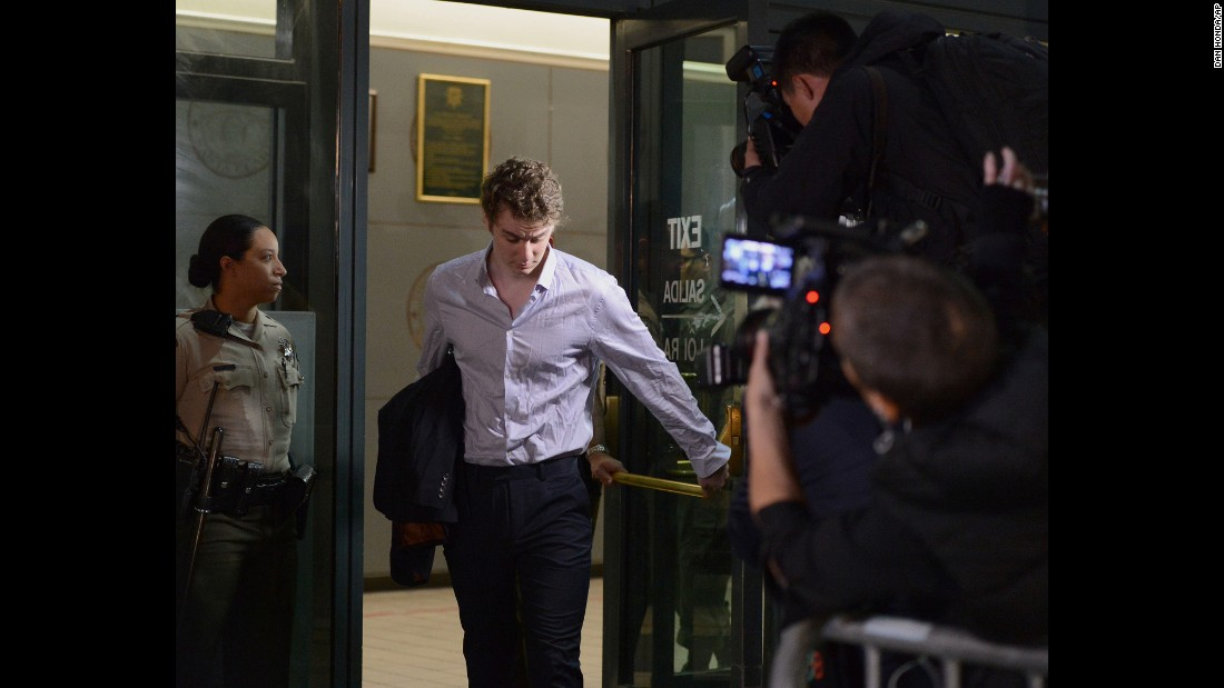 "Former Stanford swimmer Brock Turner leaves the Santa Clara County Jail in San Jose, California, on Friday, September 2. Turner, who was convicted of three felonies for sexually assaulting an unconscious woman, was released from jail after <a href=""http://www.cnn.com/2016/09/02/us/brock-turner-college-athletes-sentence/index.html"" target=""_blank"">serving half of his six-month sentence.</a>"