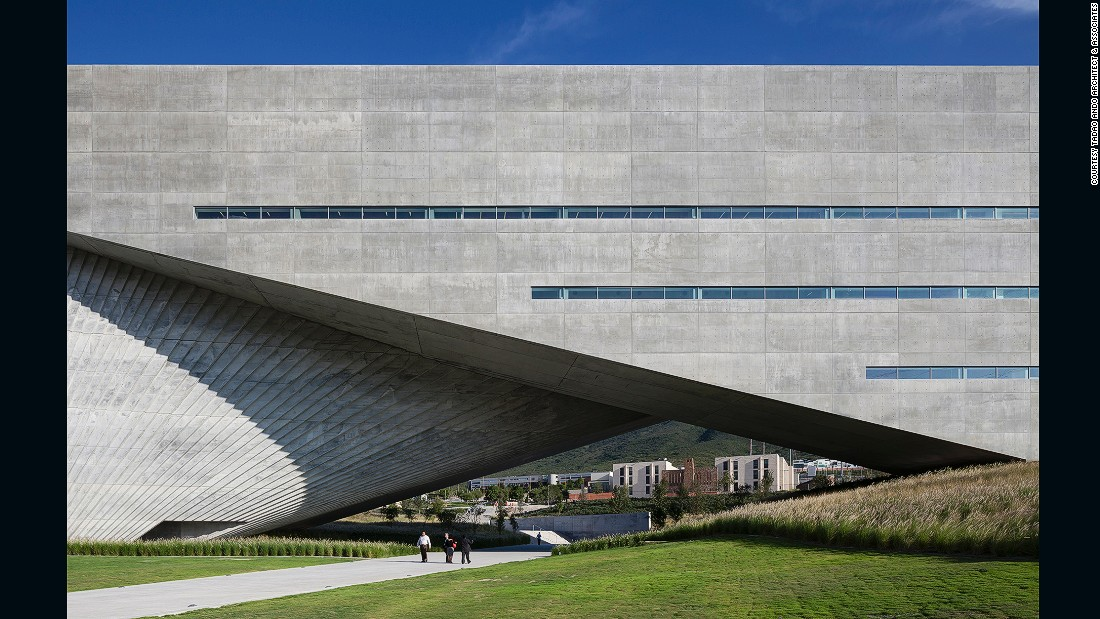 """This 300-student art, design and architecture facility at the University of Monterrey in Mexico has 21 laboratories, three exhibition spaces, two amphitheaters and multipurpose indoor and outdoor spaces. The building received a commendation in the Higher Education and Research Award at the <a href=""""https://www.worldarchitecturefestival.com"""" target=""""_blank"""">2013 World Architecture Festival</a>."""
