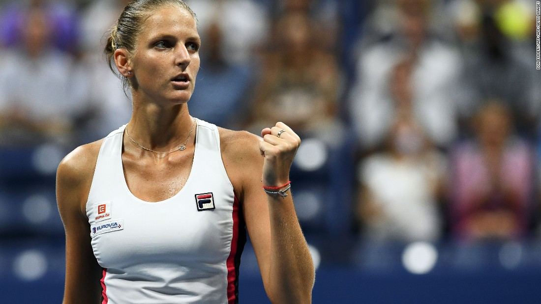 Pliskova reached her first grand slam final. For her part, her game was working, including the big serve.
