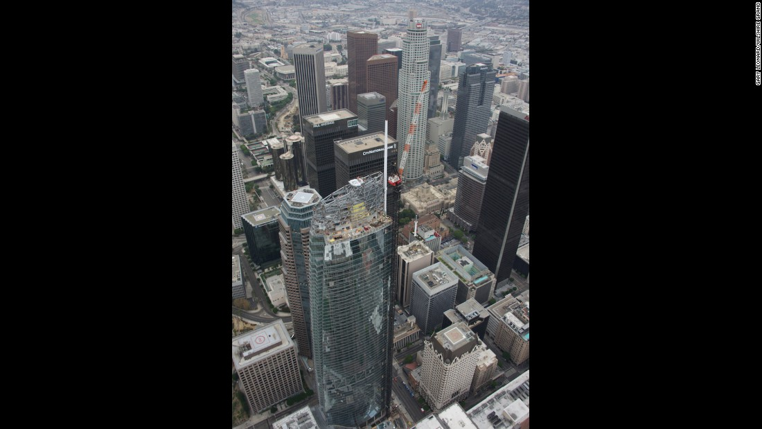 The building stands at 1,099 feet tall, with the spire totaling 294 feet.