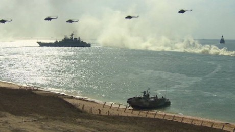 Crimea war games Pleitgen pkg_00000022