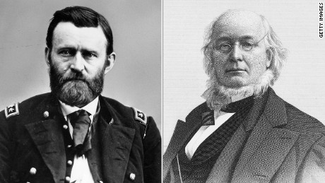 Ulysses S. Grant and the newspaperman and 1872 Liberal Republican presidential nominee, Horace Greeley.