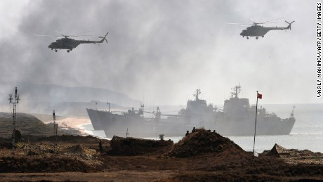 More than 12,000 soldiers are involved in the Kavkaz exercises.