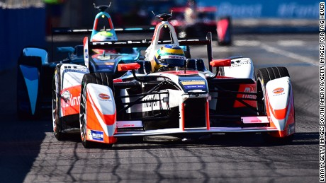BUENOS AIRES, ARGENTINA - FEBRUARY 06:  Bruno Senna of Mahindra Racing Formula E Team during the Buenos Aires ePrix as part of 2015-2016 FIA Formula E Championship at Puerto Madero Street Race Track on February 06, 2016 in Buenos Aires, Argentina. (Photo by Amilcar Orfali/Getty Images for TAG Heuer)
