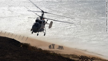 Russia puts on show of military strength in Crimea