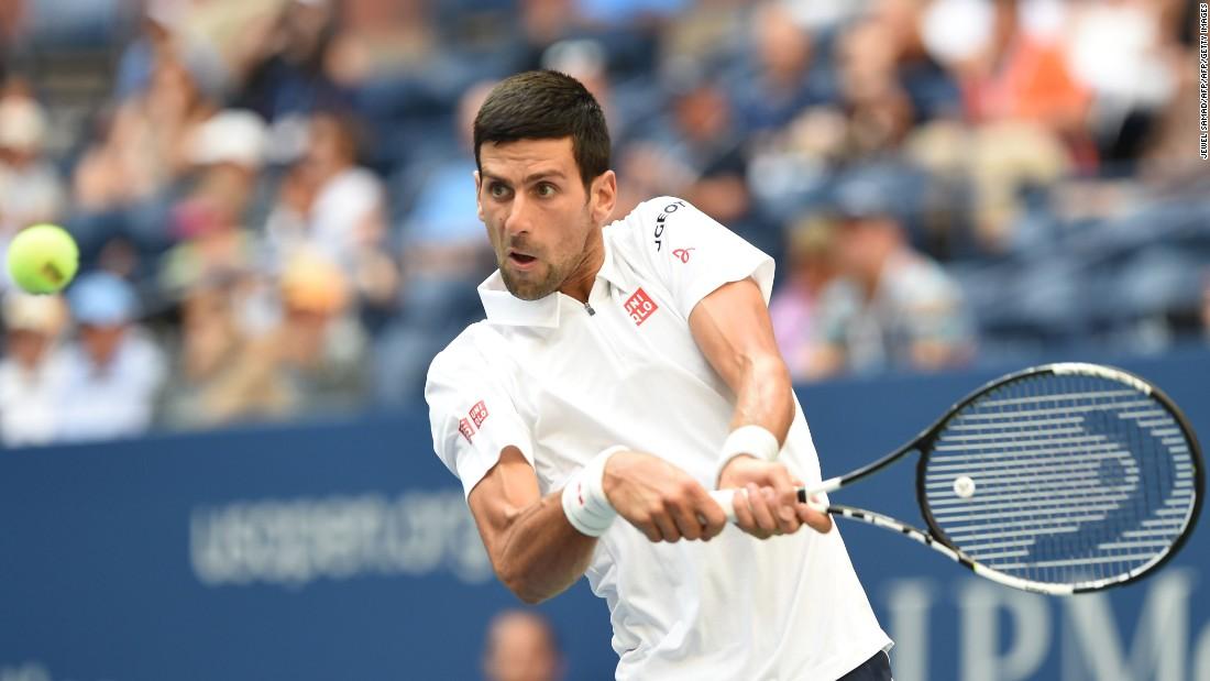 Novak Djokovic beat Gael Monfils in four sets to make a seventh US Open final.