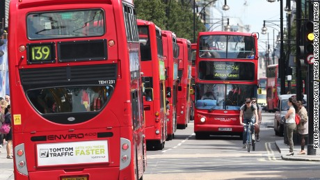 Up to 300 buses travel along Oxford Street during peak hours, making it the most polluted in the world by some measures.