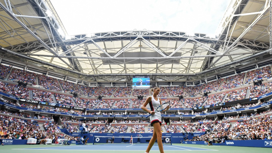 The crowd -- wanting more tennis -- got behind Pliskova on Arthur Ashe stadium and she duly took the second. She even led the decider 3-1.