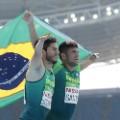 Yohansson Nascimento and Petrucio Ferreira dos Santos celebrate