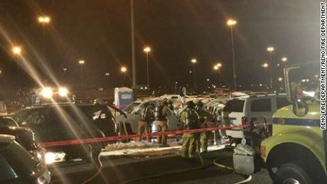 Three people on board the plane died, but no one on the ground was injured.