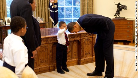 Capturing unguarded moments with Obama