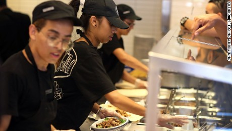 cnn money chipotle workers