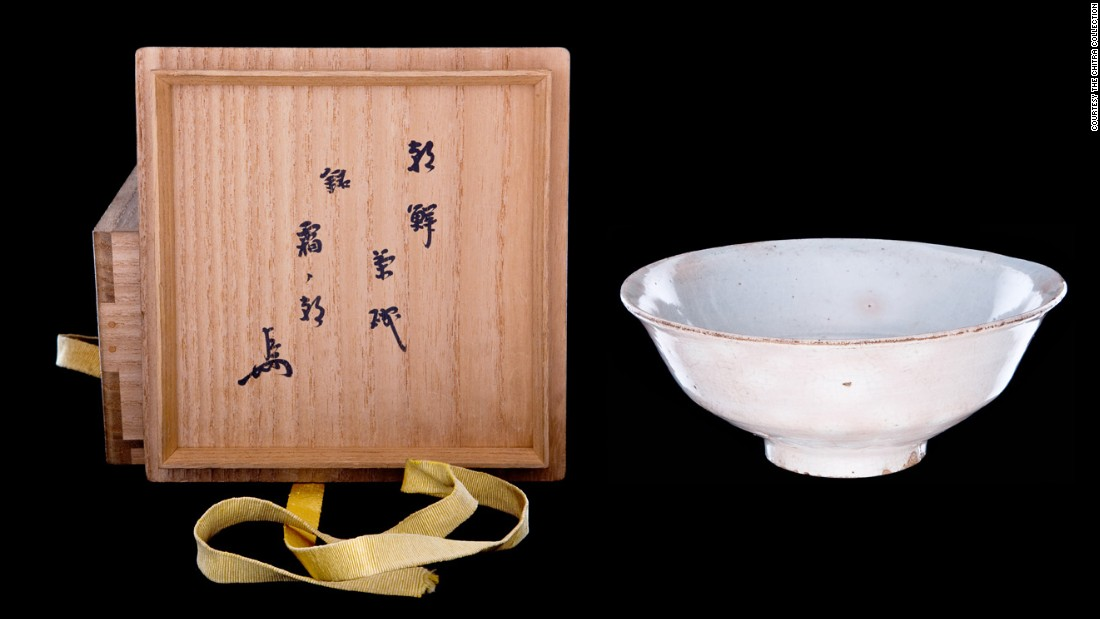 """This Japanese tea bowl, named """"Akebone"""" (dawn) by its creator, was made from clay."""
