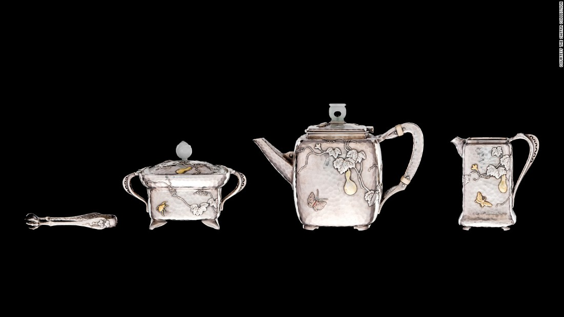 Designed by Tiffany & Co. director Edward C. Moore, this tea set won the grand prix for silverware at the 1878 Exposition Universelle in Paris, one of the brand's first major successes.
