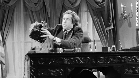 Chevy Chase as President Gerald Ford in a 1976 skit on Saturday Night Live.