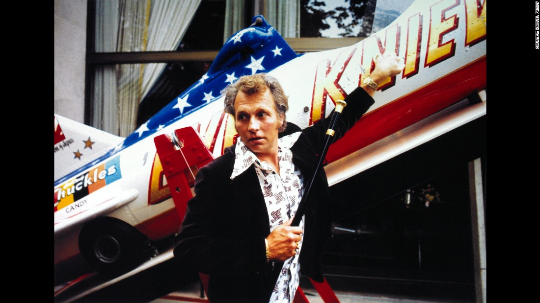 """Although it failed, the Snake River Canyon jump added to Knievel's already considerable legend. He broke his pelvis while attempting his next jump, eight months later at London's Wembley Stadium, and  attempted six more public jumps before retiring in 1980. He died in 2007. """"My dad jumped 275 times, and it's not the 260 times he made it that made him famous,"""" his son Kelly Knievel says. """"It's the 15 times he crashed."""""""