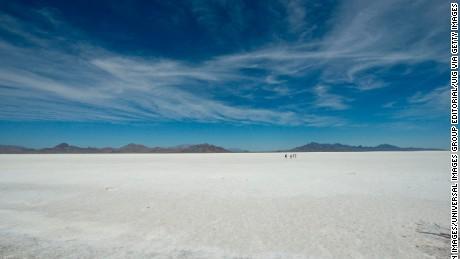 The Bonneville Salt Flats were the venue for the record attempt.