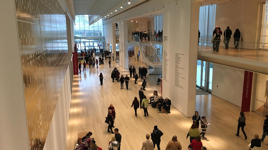 "In second place is the Art Institute of Chicago, famous for its encyclopaedic collection -- which includes Grant Wood's painting ""American Gothic."" The museum makes a famous cameo in John Hughes 1986 teen classic ""Ferris Bueller's Day Off"" -- and remains as popular in 2016."