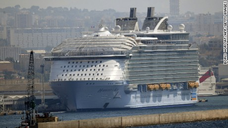 Harmony of the Sea as it docked after the tragic deaths