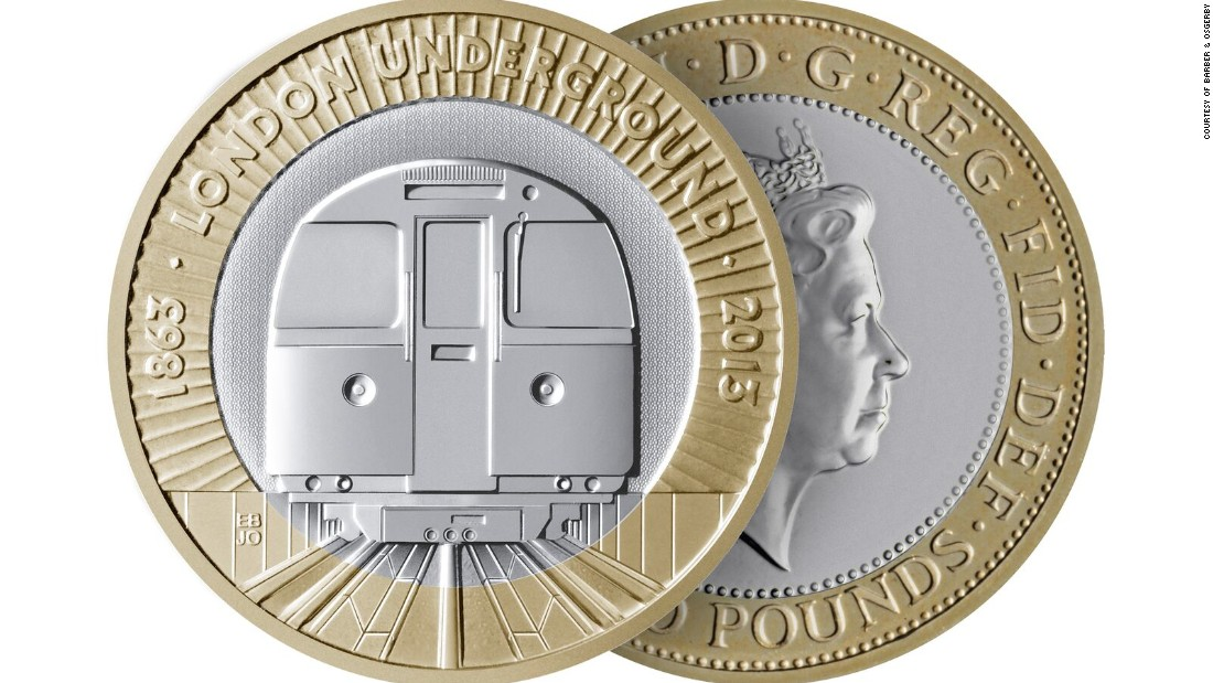 To celebrate the 150th anniversary of the London Underground in 2012, Barber & Osgerby were asked to design a commemorative £2 coin. Their version shows a train emerging from the darkness of a tube tunnel.