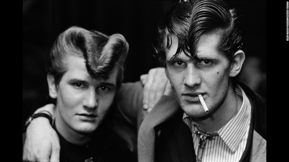 """This is one of the images from photographer Chris Steele-Perkins' book, """"The Teds,"""" which shows the British Edwardian-style youth movement associated with rock 'n' roll."""