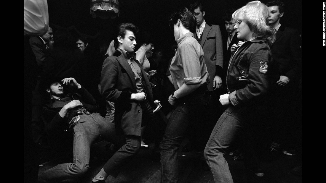 People dance at a London pub in 1976.