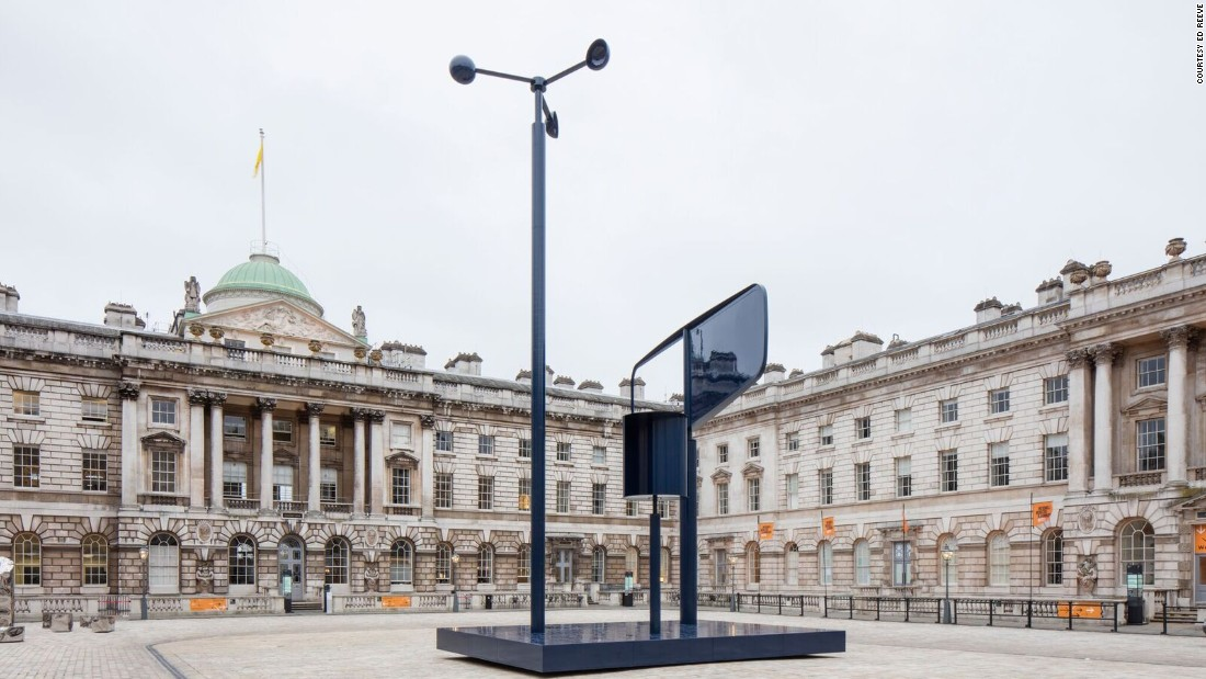 This year, Barber & Osgerby installed a weathervane-like structure at London's Somerset House as part of the inaugural London Design Biennale.