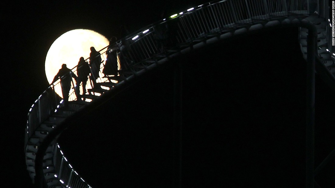 The staircase stands 18 meters (59 feet) tall and leads people on a roller coaster-like journey.