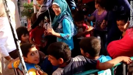 Moment of joy for Aleppo's children