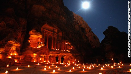 Petra, one of the Middle East's most enigmatic cities, is known for its rose-hued ancient sandstone architecture.