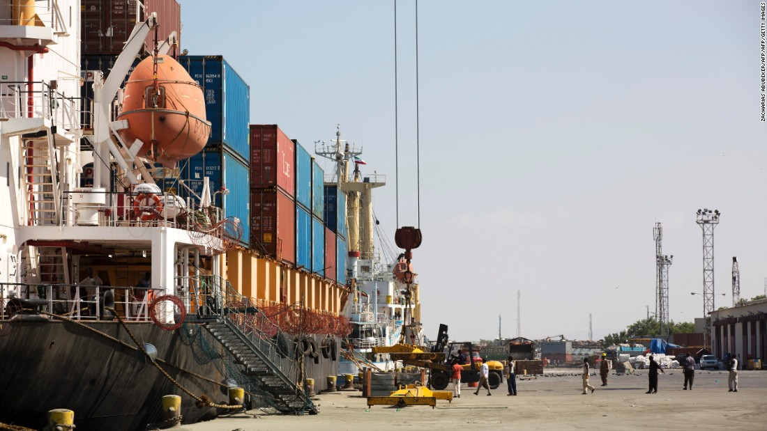 Loading cargo ship at the Port of Berbera on December 5, 2015. The main exports from Somaliland are livestock to the Gulf countries Saudi Arabia, Dubai and Qatar.