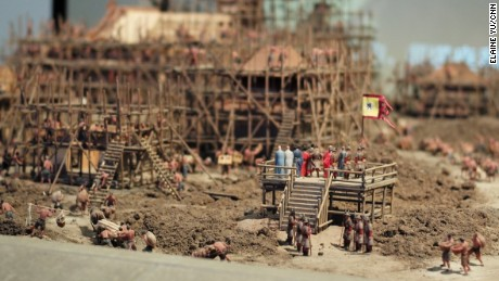A model of the Bao'en Temple complex during the 15th century Ming dynasty.