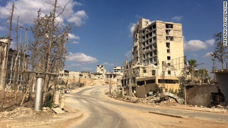 As Syria's ceasefire largely holds, residents trapped in Aleppo eagerly await crucial aid supplies after months cut off from the rest of the world. But one main highway stands in the way of delivering aid to rebel-held eastern Aleppo: Castello Road.