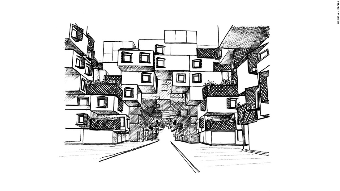 Street view showing intersecting units
