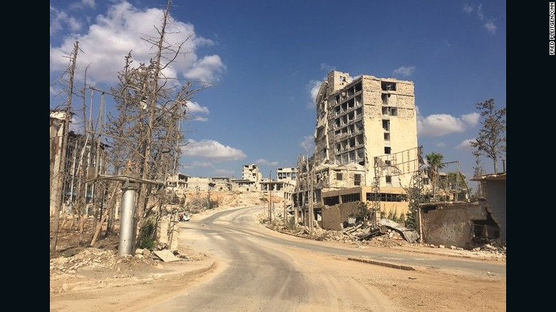 Castello Road, controlled by Syrian regime forces, is the only route into Aleppo's rebel-held east.