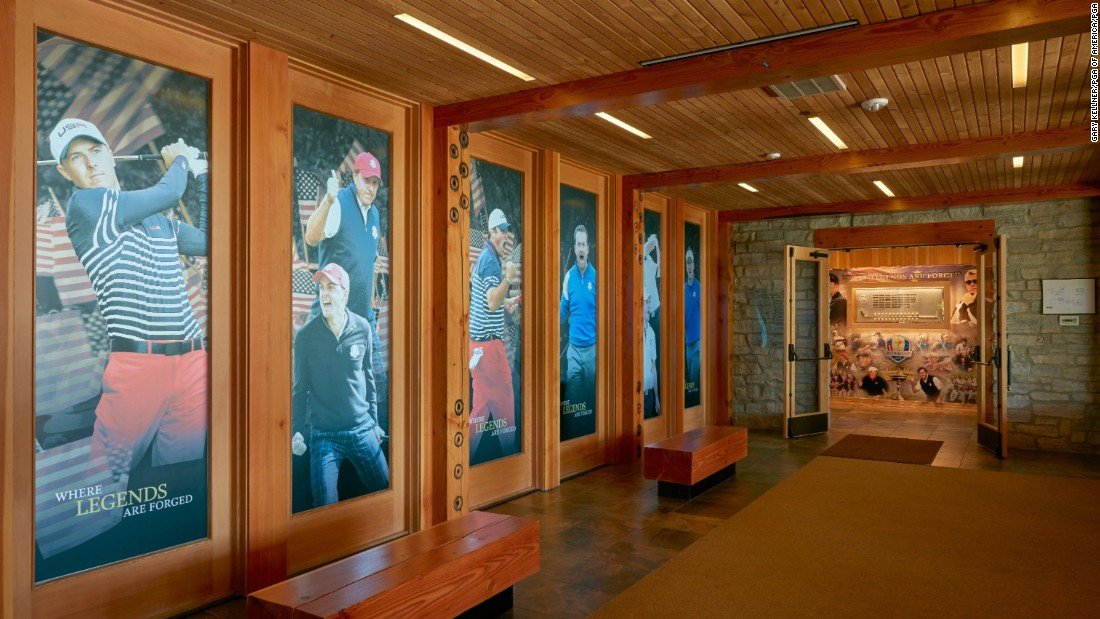 A view inside the clubhouse at Hazeltine.