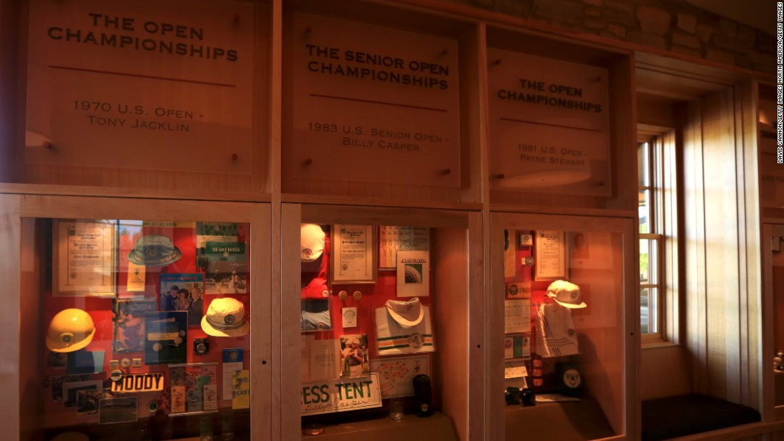 It includes a display of memorabilia from the 1970 and 1991 US  Opens and the 1983 US Senior Open, won by Billy Casper.