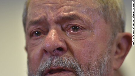 Brazilian former president Luiz Inacio Lula da Silva speaks during a press conference in Sao Paulo, Brazil on September 15, 2016.  Lula da Silva defended himself against corruption charges Thursday, saying the case against him was an attempt to destroy him politically ahead of elections in 2018. / AFP / NELSON ALMEIDA        (Photo credit should read NELSON ALMEIDA/AFP/Getty Images)