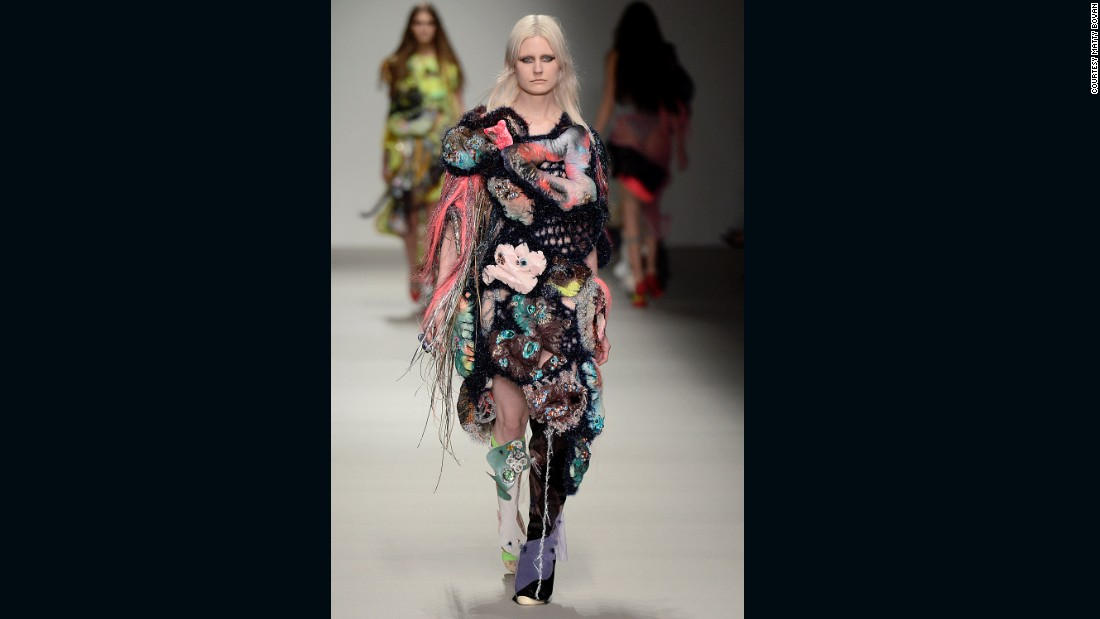 """He's known for his inventive knits, bold use of clashing colors, and what he calls a """"cacophony of textures."""""""