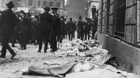 Victims of the Wall Street bombing in 1920.