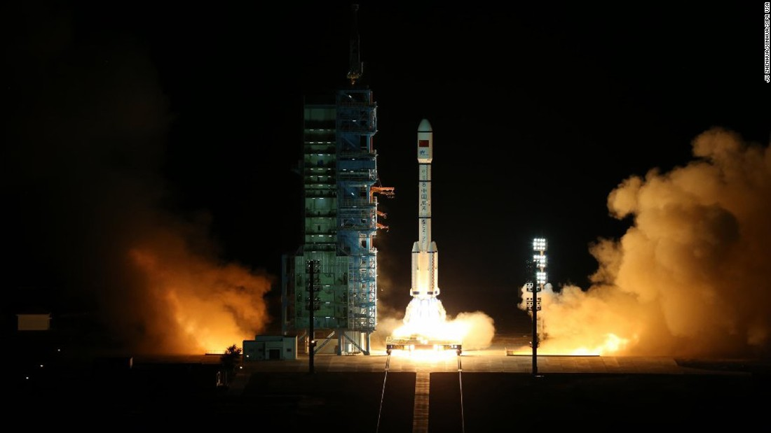 """A Long March-2F rocket blasts off from the Jiuquan Satellite Launch Center in the Gobi Desert on Thursday, September 15. The rocket was carrying the lab known as <a href=""""http://www.cnn.com/2016/09/15/asia/china-launches-tiangong-2-space-lab/"""" target=""""_blank"""">Tiangong-2</a>, which translates to """"heavenly vessel,"""" according to state media China Central Television."""