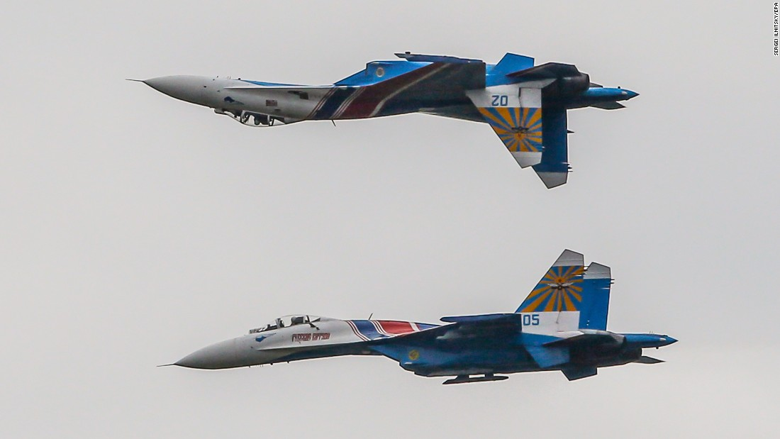 The russian knights a russian air force aerobatic demonstration