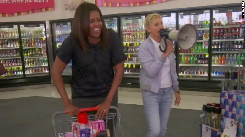 Watch Ellen DeGeneres tease the first lady at CVS