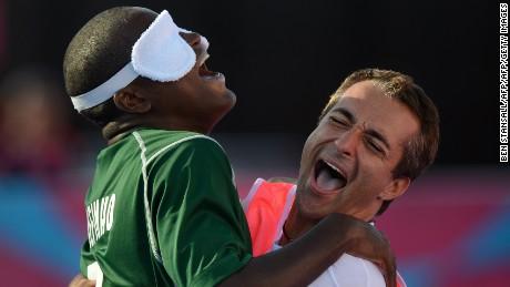 Brazil's Jefinho Goncalves (L) won gold at London 2012.