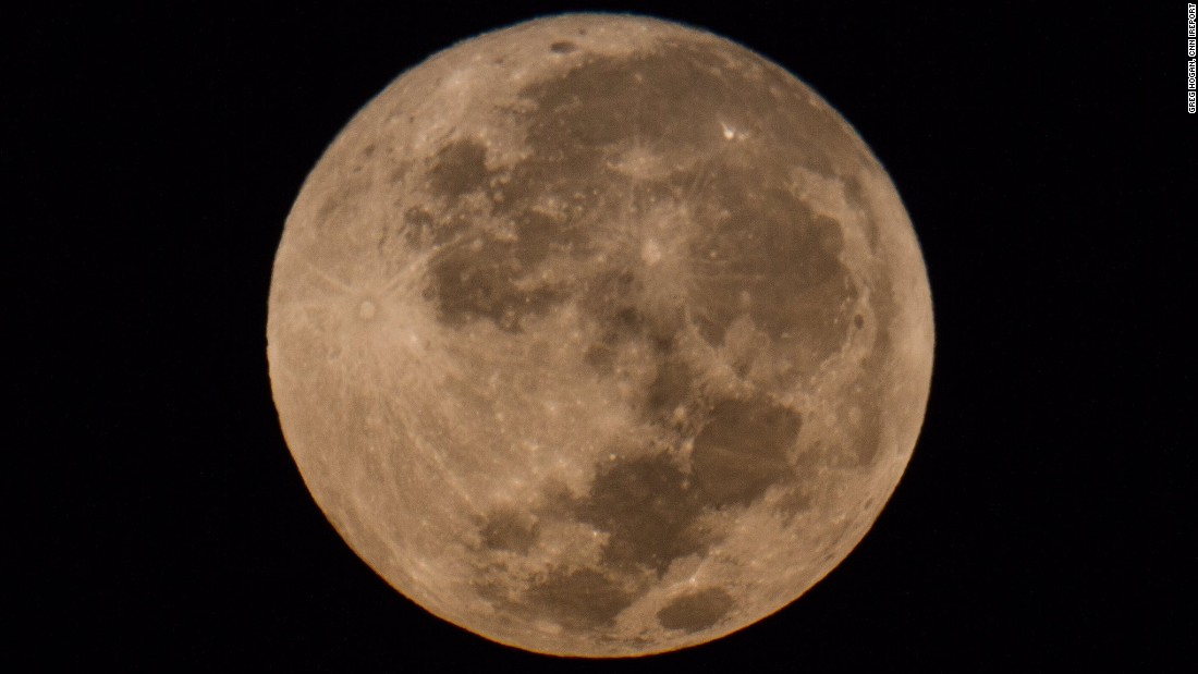 Greg Hogan caught this harvest moon early Friday in Kathleen, Georgia.