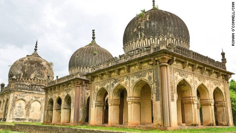 These monuments are the resting places of the family which ruled the Hyderabad region of southern India for 169 years in the 16th and 17th centuries. Known as the Qutb Shahis, they were a fearsome clan which oversaw the powerful Golconda Kingdom.